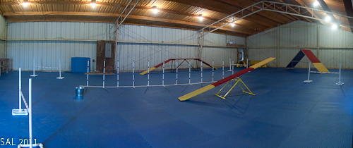 Photo of agility building